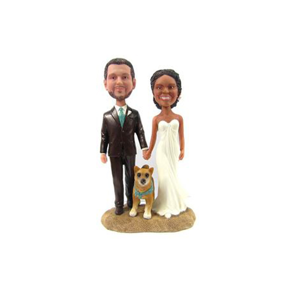 Wedding Bobbleheads Dog Bobblehead Customised
