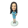 Light Blue Suit Lady Secretary Bobblehead