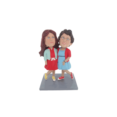 Female Custom Couple Bobbleheads