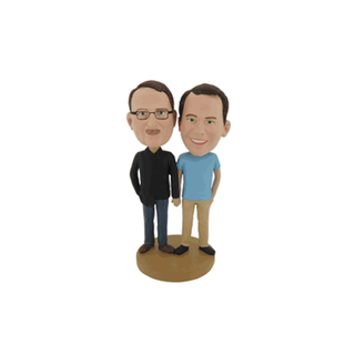 Male Custom Couple Bobbleheads