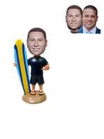 Personalized Custom Bobblehead Surfer