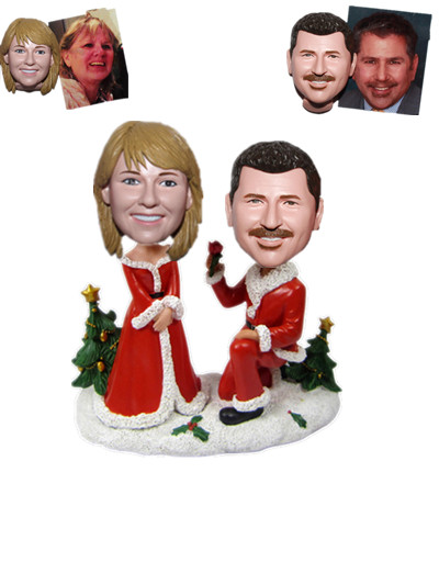 Custom Christmas Couple Bobbleheads