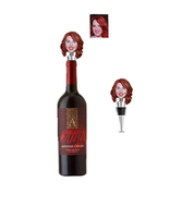 Custom Clay bobblehead Metal Wine Stopper