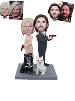 Custom Bobbleheads 007 Couple