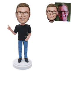 Personalized Custom Bobble Head Male Teacher