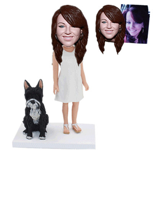 Personalized Custom Bobblehead with Dog Custom From Photo