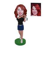 Female Golfer Custom Bobble Head