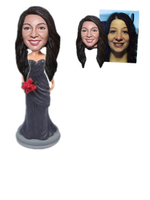 Custom Bridesmaid Bobble Head Dress Color Can Be Specified