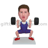 Male Weight Lifter Custom Bobble Head