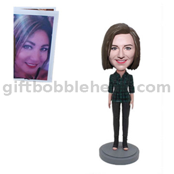 Custom Female Bobblehead From Photo Gift for Colleagues