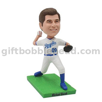 Custom Bobblehead Baseball Player Throwing The Ball