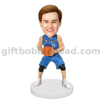 Custom Bobblehead Man Holding A Basketball