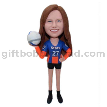 Gift for Volleyball Player Custom Bobble Head