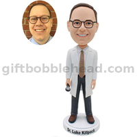 2021 Best Selling Gift for Doctor Male Doctor Bobblehead Custom From Photo