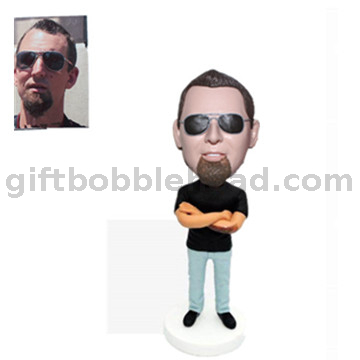 Custom Bobblehead Man Wearing Sunglasses Casual Male Bobbleheads