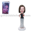 Personalized Female Bobblehead Lady with A Cocktail Glass