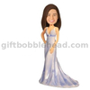 Custom Wedding Bobblehead Lady in Beautiful Evening Dress