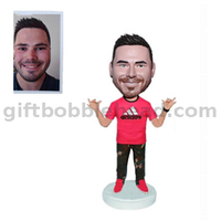 Custom Casual Male Bobblehead Gift for Boyfriend