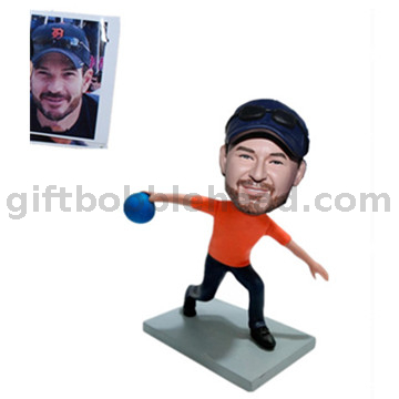 Bowing Bobbleheads Custom Bobblehead Male Playing Bowing