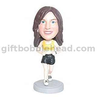 Custom Female Runner Bobblehead Factory