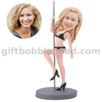 Sexy Lady Dancing on A Steel Pole Female Dancer Bobble Head Custom