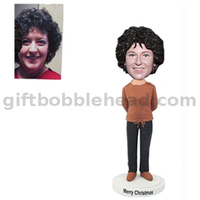 Mother's Day Gift Handmade Custom Bobblehead Lady with Hands Behind