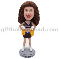 Cheerleaders Custom Bobblehead Made From Your Photos