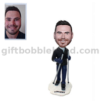 Man Bobblehead Custom Form Photo Skiing Bobble Head