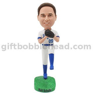 Bobblehead Factory Custom Bobblehead Baseball Player Ready To Throw The Ball