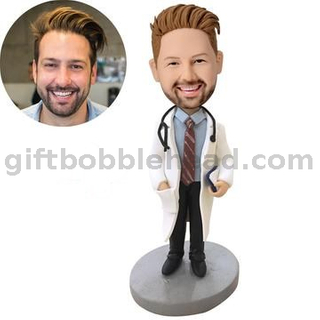 Customized Bobblehead Male Doctor with Stethoscope