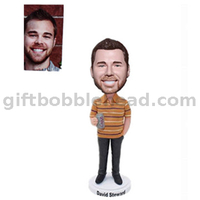 Custom Bobblehead Man Holding A Beer Cans